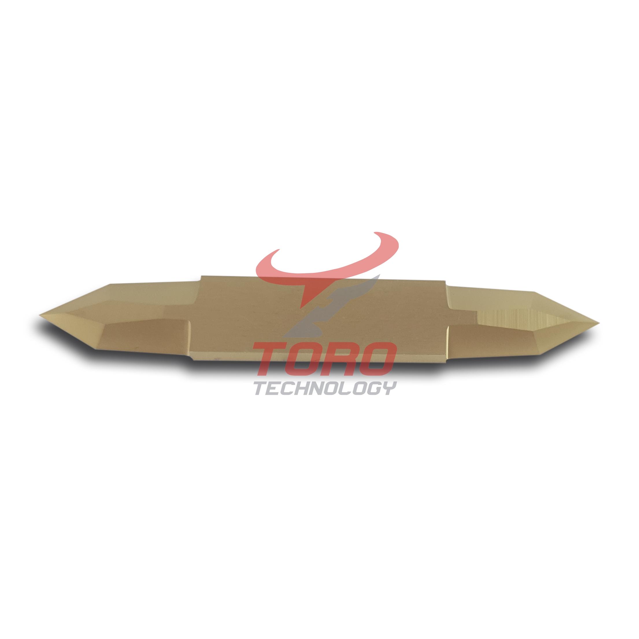 Nóż Zund Z45 TiN dwustronne ostrze powlekane tytanem Z44